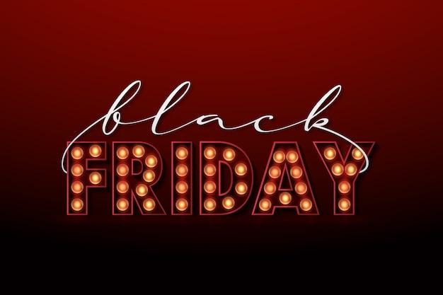 Retro lichte zwarte vrijdag achtergrond