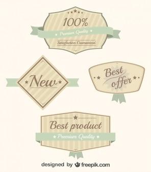 Retro lint bedrijf stickers set