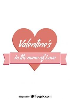 Retro lint hart liefde bericht kaart ontwerp