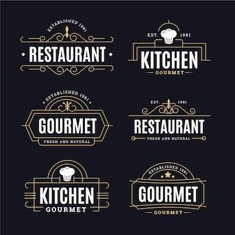 Retro logo collectie concept
