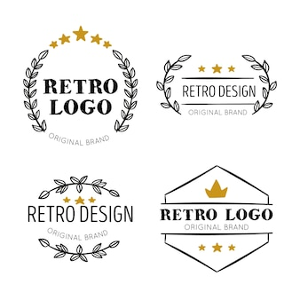 Retro logo collectie thema