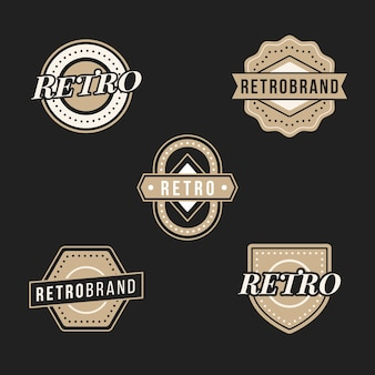 Retro logo-collectie