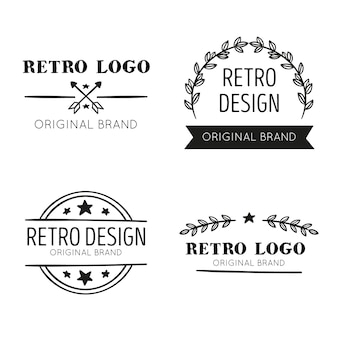 Retro logo collectieontwerp