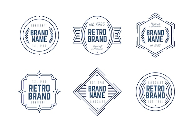 Retro logo-pakket