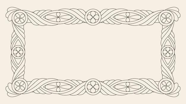 Retro luxe uitnodiging, koninklijk certificaat. bloeit frame.