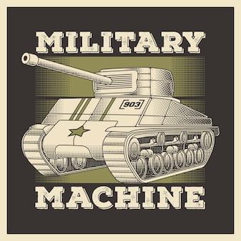 Retro militaire voertuig zware tank
