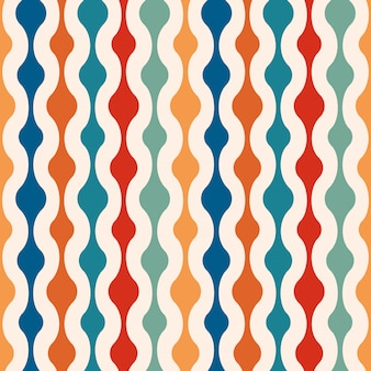 Retro minimale naadloze patroonachtergrond