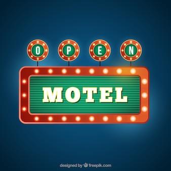 Retro motel banner