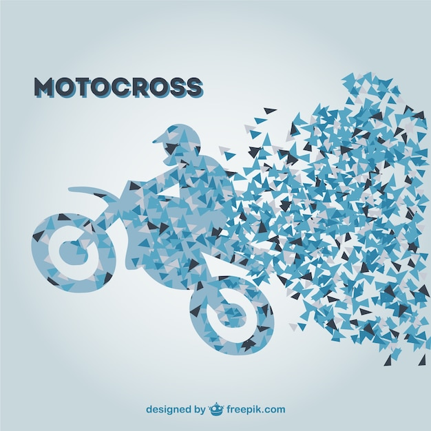 Retro motorcross vector sjabloon