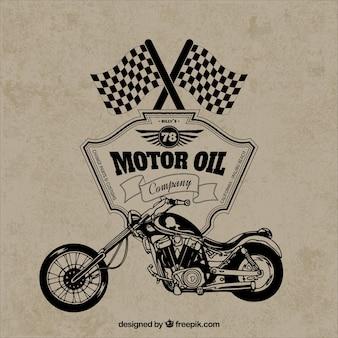 Retro motorfiets badge