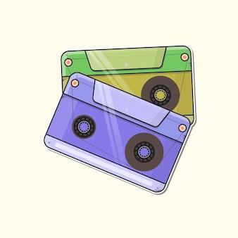 Retro muziekbanden logo premium vector
