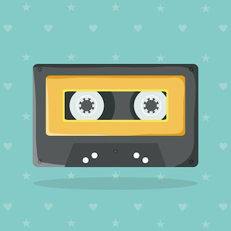 Retro muziekcassette