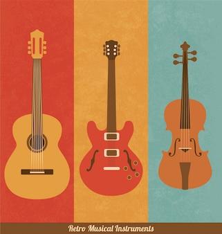 Retro muziekinstrumenten