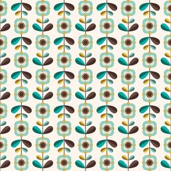 Retro naadloos patroon met decoratief ontwerp