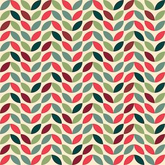 Retro naadloos patroon met geometrische motieven