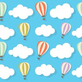 Retro naadloos patroon met luchtballonnen vectorillustratie eps10