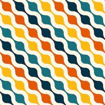 Retro naadloze patroonachtergrond
