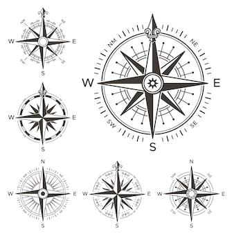 Retro nautisch kompas