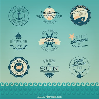 Retro nautische cruise badges