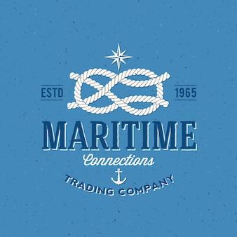 retro navy trading company label of logo sjabloon