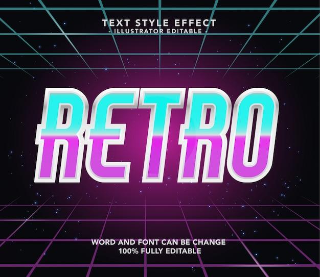 Retro neon lettertype