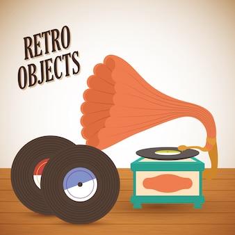 Retro objecten vintage ontwerp