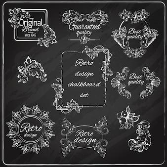 Retro ontwerp schoolbord