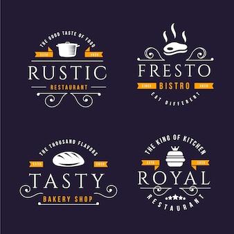 Retro ontwerp voor logo set