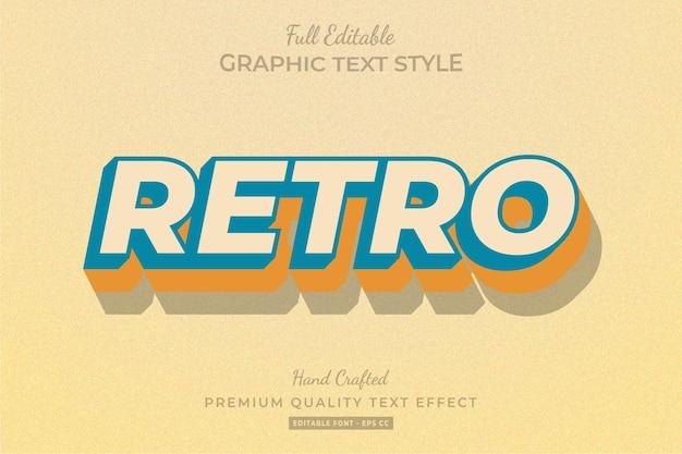Retro oude bewerkbare teksteffect lettertypestijl