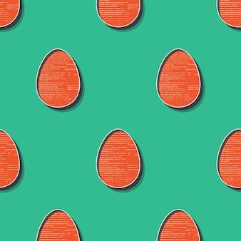 Retro paasei patroon illustratie voor vakantie achtergrond. creatieve en vintage stijl afbeelding