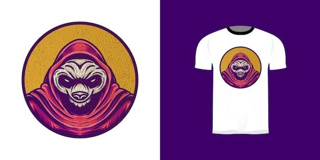 Retro panda illustratie voor stickerontwerp, t-shirtontwerp