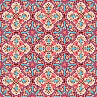 Retro patroon met bloemen
