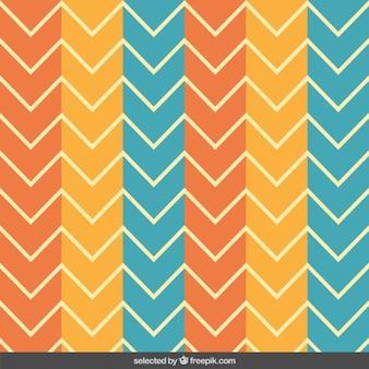 Retro patroon van de zigzag