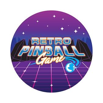 Retro pinball game illustratie