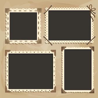 Retro plakboekframes kopiëren ruimte