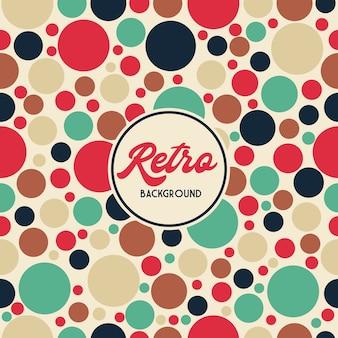 Retro polka dots patroon achtergrond