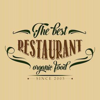Retro poster van het organisch voedselrestaurant