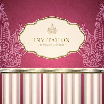 Retro prinses uitnodiging sjabloon