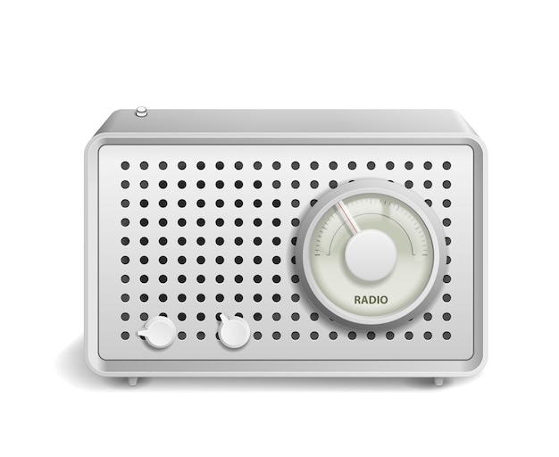 Retro radio geïsoleerd