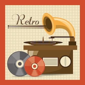 Retro radio naar luistermuziekmuziek
