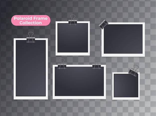 Retro realistische lege onmiddellijke geïsoleerde polaroidfoto
