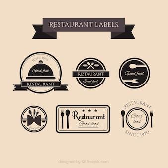 Retro restaurant labels collectie