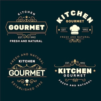 Retro restaurant logo collectie