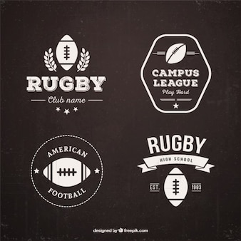 Retro rugby badges