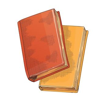 Retro schrijfpapier voor poëziewerk of onderwijs
