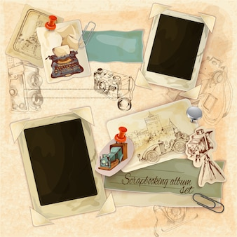 Retro scrapbooking set