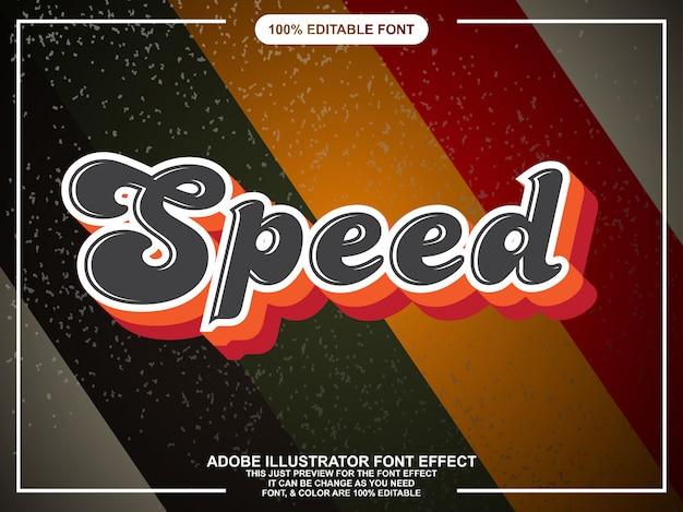 Retro script tekststijl lettertype effect
