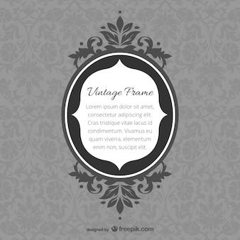 Retro spiegellijst krullend ontwerpen