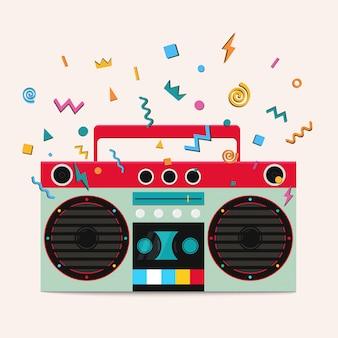 Retro stereo cassettespeler.