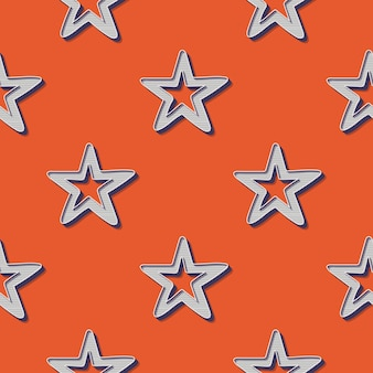 Retro sterrenpatroon, abstracte geometrische achtergrond in de stijl van de jaren 80, 90. geometrische eenvoudige illustratie